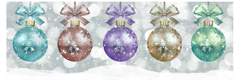 Vijf kerstballen